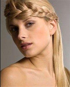 peinado diadema trenza